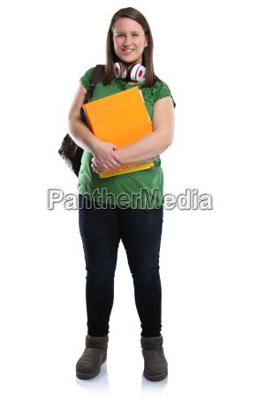 studente giovane signora risata piena corpo