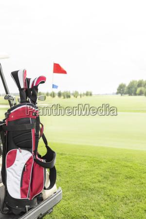golf club bag at golf course
