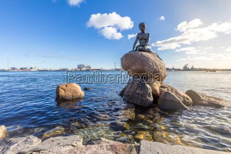 statua della sirena copenaghen