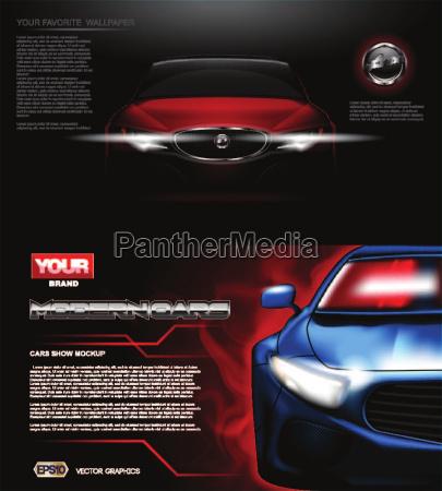 digital vector rosso moderno sport auto