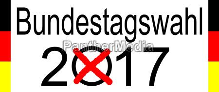 elezioni in germania 2017 su sfondo