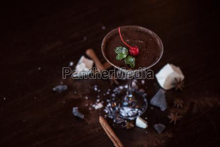 bicchiere cibo dolce colore stile di