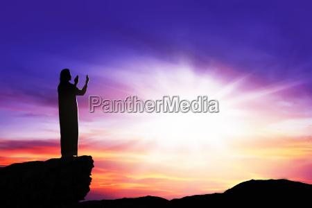 blu mano oggetto religione fede dio