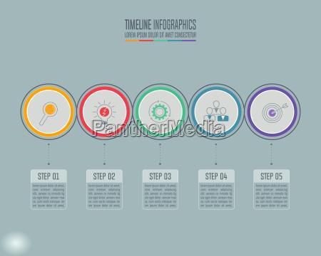 concetto creativo per infografica timeline infografica