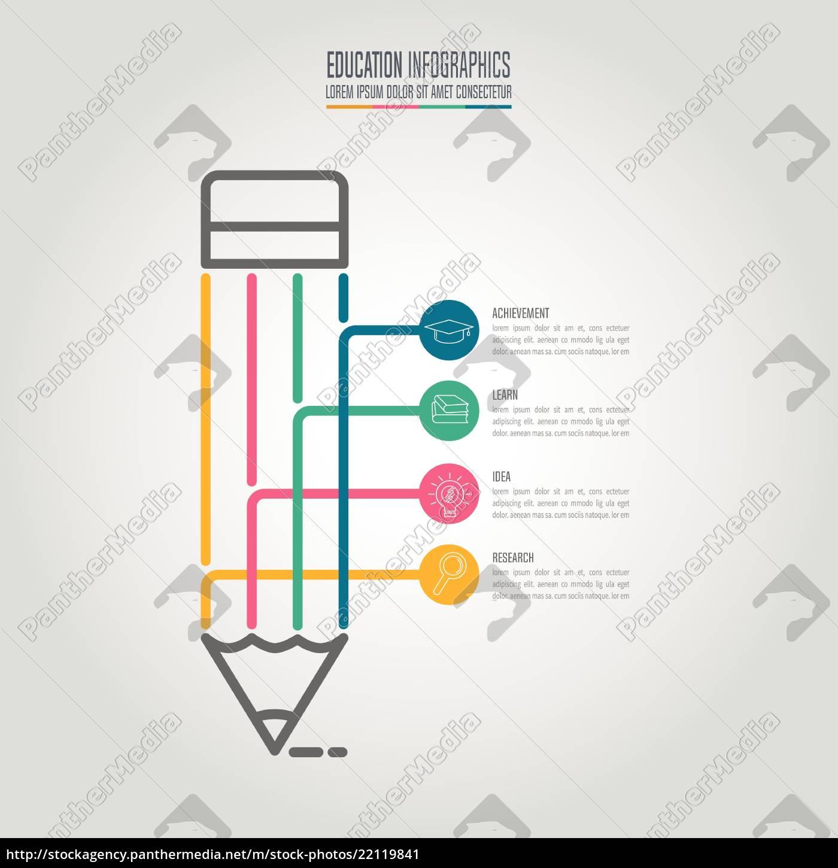 istruzione, infografica, modello, 4, step, opzione. - 22119841