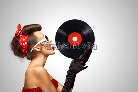 musica moda annata bikini disco vinile