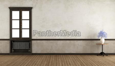 finestra stanza legno annata vendemmia retro