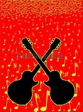 music and guitar background