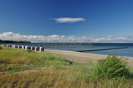 steep coast baltic sea and beach