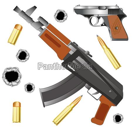 conflitto guerra pistola arma automatico meccanico