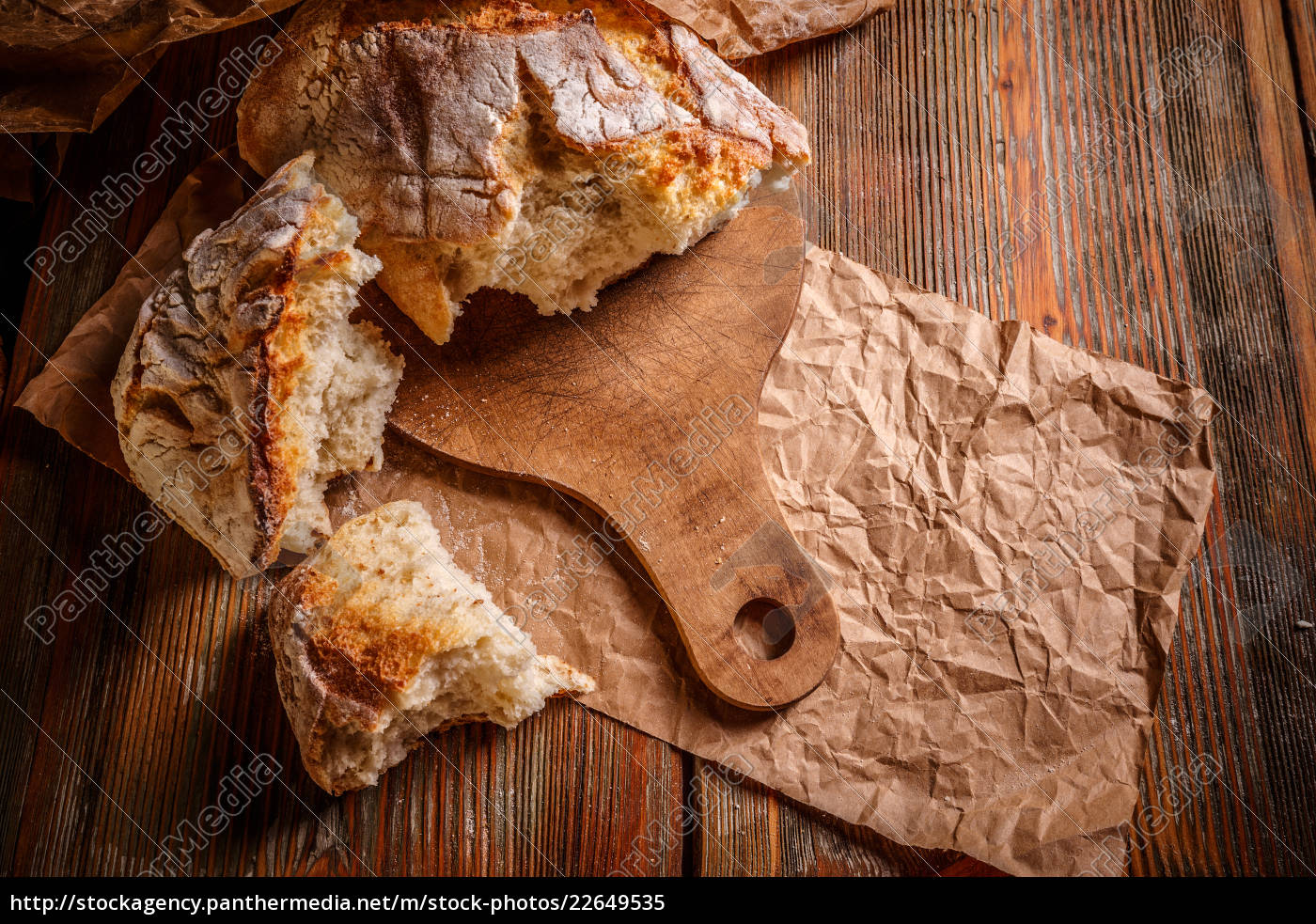 close, up, of, rustic, loaf - 22649535