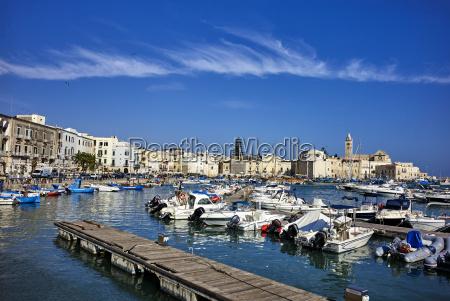 the seaport of trani apulia italy
