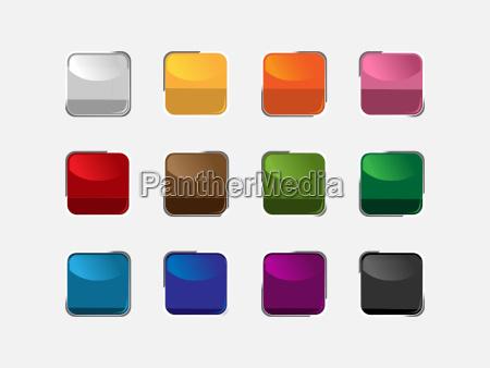 gruppo di tasti quadrati dei colori