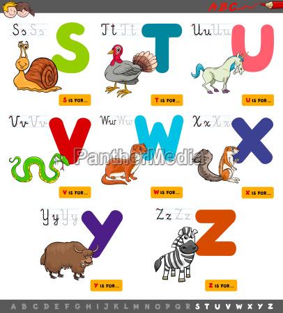 scrivere educazione animale lettere illustrazione redigere
