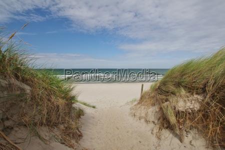 beach crossing between dierhagen and wustrow