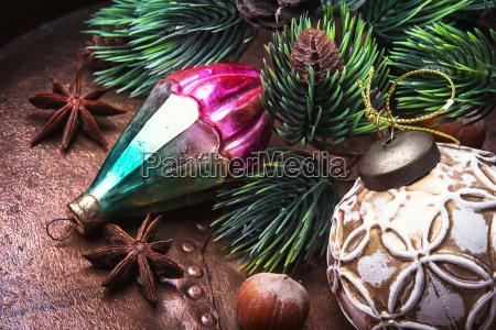 vacanza annata ornamento festa lucente decorazione