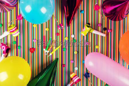 sfondo festa di compleanno vista dallalto