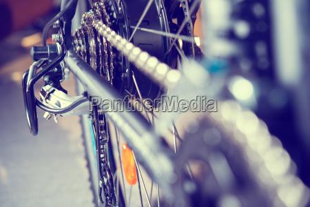 stretta di ingranaggio della bicicletta e