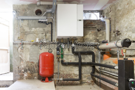 condensing boiler gas in the boiler