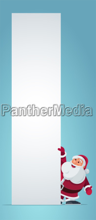 santa claus holding banner