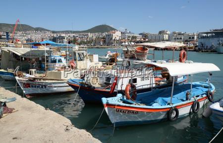 fishing boats in kusadasi turkey