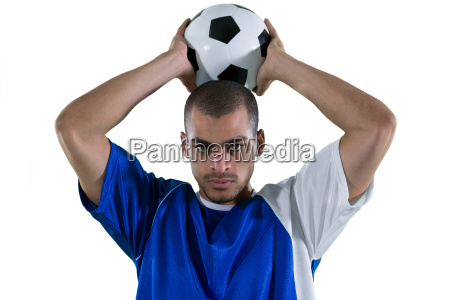 football player about to throw the
