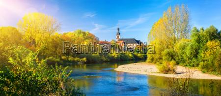 germania villaggio paesaggio natura fiume acqua