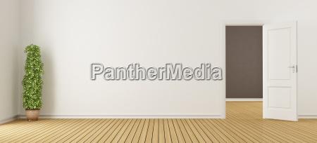 arredamento stanza interno porta muro svuotare