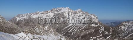 spain cantabria winter landscape in picos