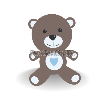 blue teddy bear with shade on