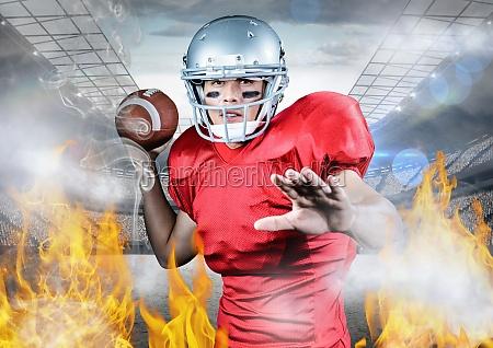 ritratto di atleta che gioca calcio