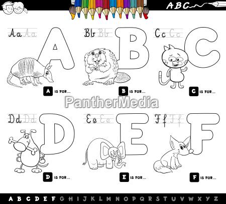lettere alfabeto fumetto educativo per la