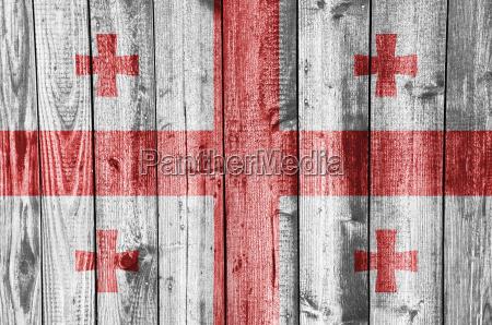 rurale legno bandiera venatura georgia intemperie