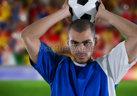 soccer player throwing in in