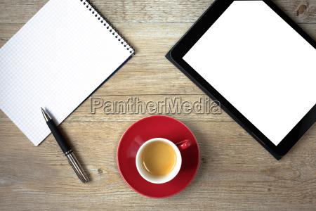 scrivania penna a sfera visione dallalto