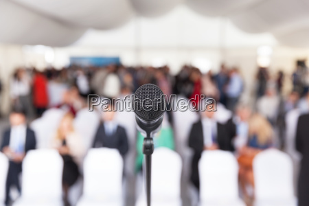 business conference corporate presentation microphone