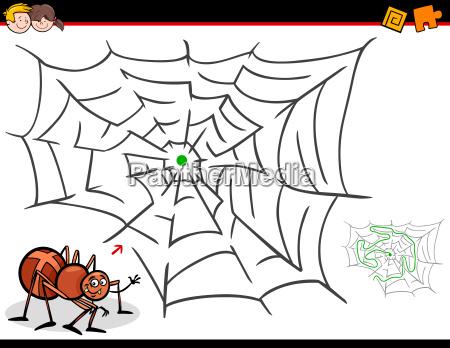 educazione ragno illustrazione labirinto fumetto cartone