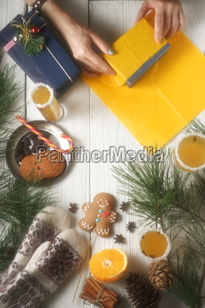 gift packaging still life on the