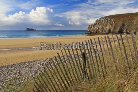 beach in brittany plage de pen