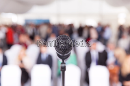 business conference microphone corporate presentation