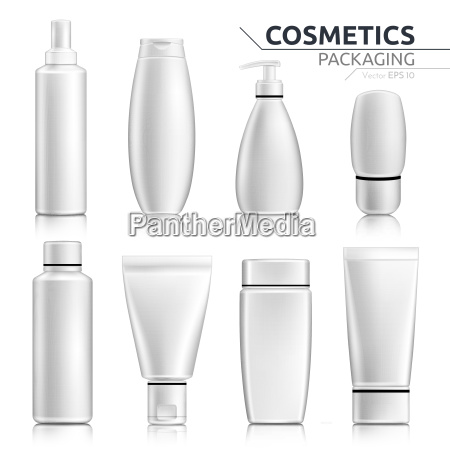 realistico bottiglie cosmetiche mock up impostato
