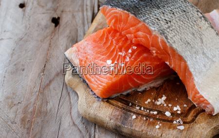 cibo sale lavagna pannello legno pescare