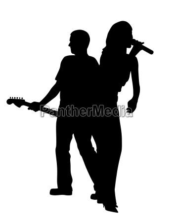 donna femminile virile mascolino chitarra cantante