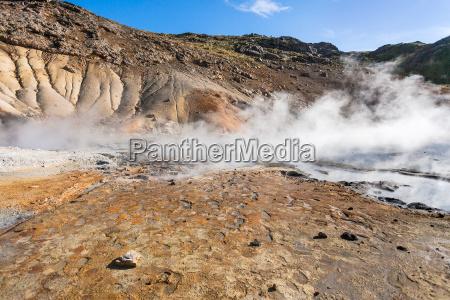 geyser a krysuvik area islanda