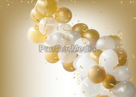 sfondo palloncini da festa bianchi e