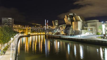 arte ponte notte luci riflesso europa