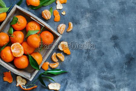 arancia cibo dolce foglie nero ramo