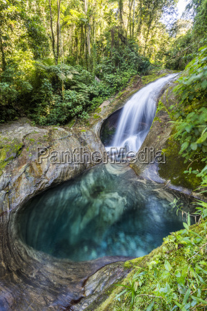 scenery of atlantic rainforest river serrinha
