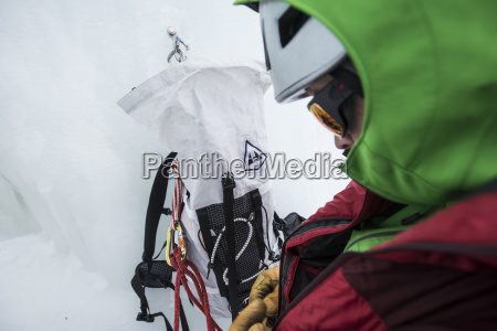 arrampicata prima dellarrampicata su ghiaccio a