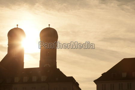 germany munich view to spires of